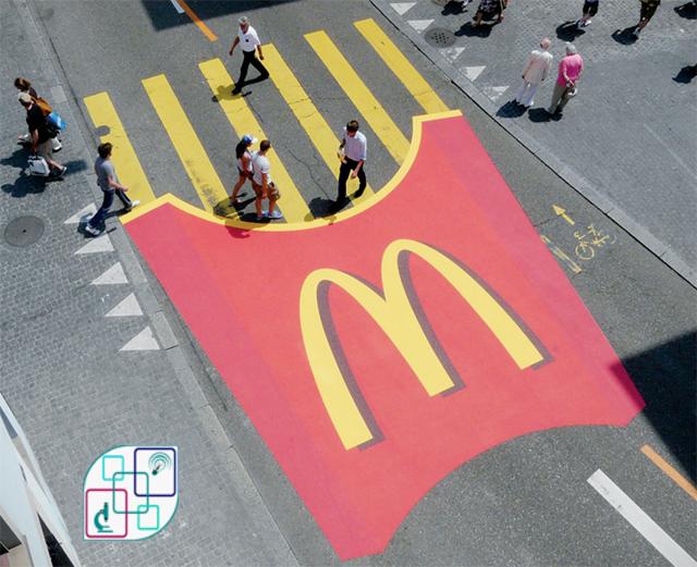 """ممر عبور الراجلين من """"ماكدونالدز McDonald's"""""""