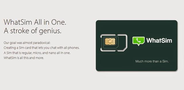 WhatSim, SIM Card Khusus Untuk WhatsApp