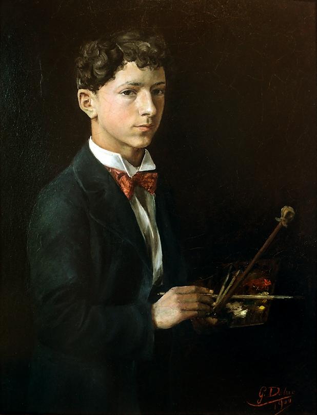 Gabriel Deluc, Self Portrait, Portraits of Painters, Fine arts, Portraits of painters blog, Paintings of Gabriel Deluc, Painter Gabriel Deluc