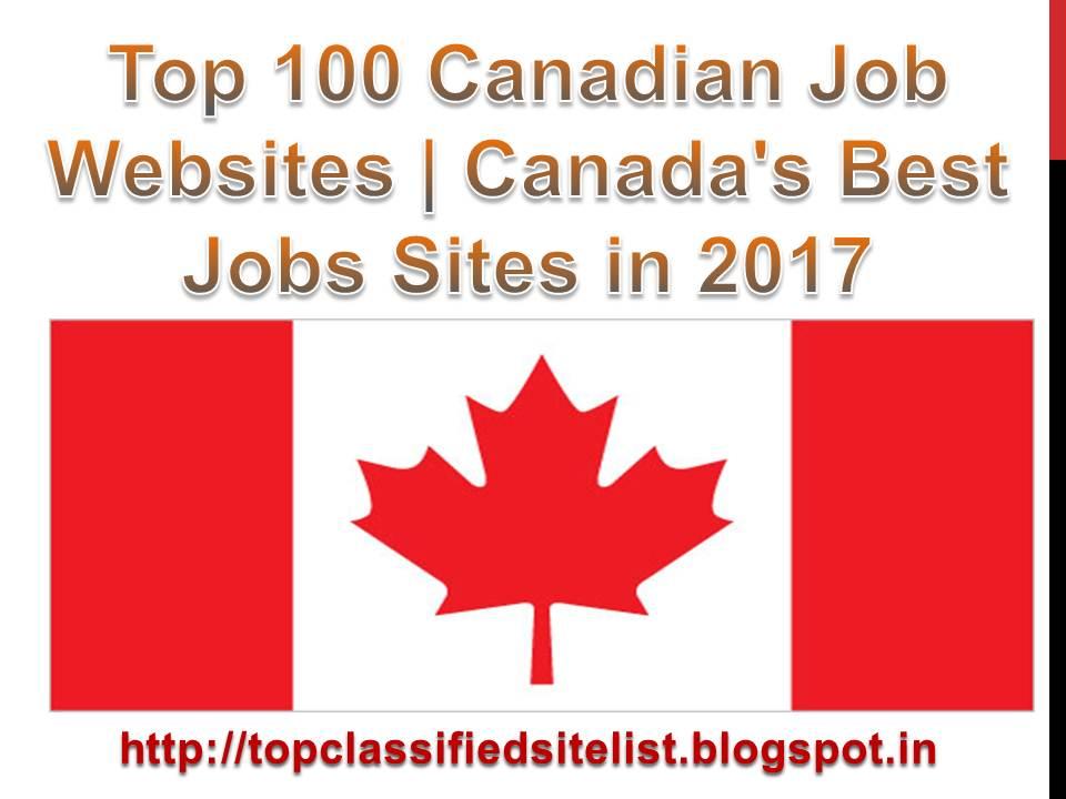 Top 100 Canadian Job Websites Canada\u0027s Best Jobs Sites in 2017 - best jobs sites
