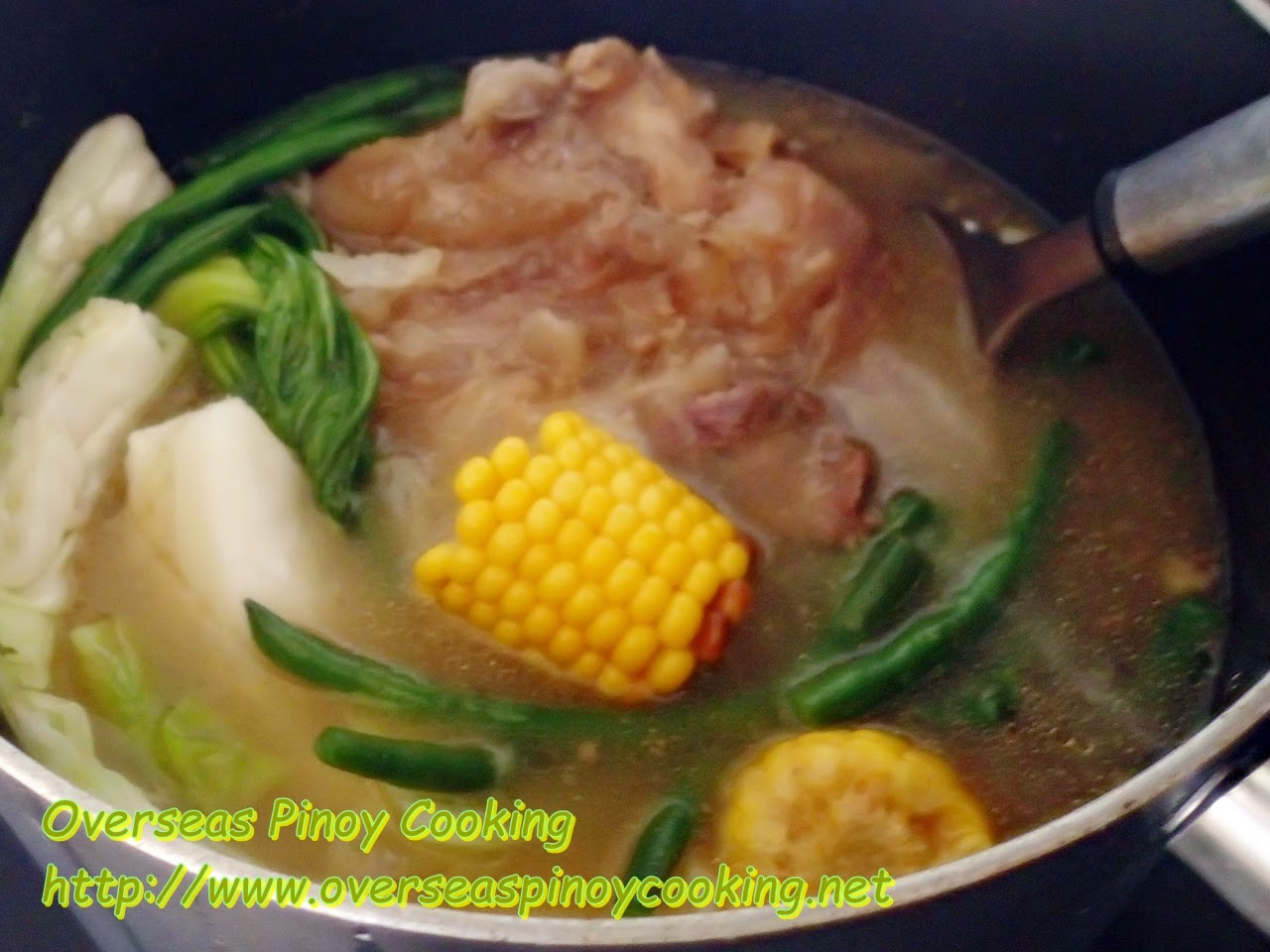Litid Bulalo, Beef Tendon Soup - Cooking Procedure