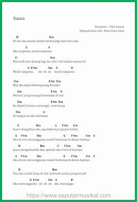 chord suara ( ku berharap ) band hijau daun