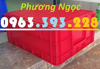 Sóng nhựa đặc B8, thùng nhựa đặc B8, hộp nhựa có nắp, thùng đựng linh kiện TB8