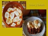 Huevos con Pisto en Cazuela de Barro