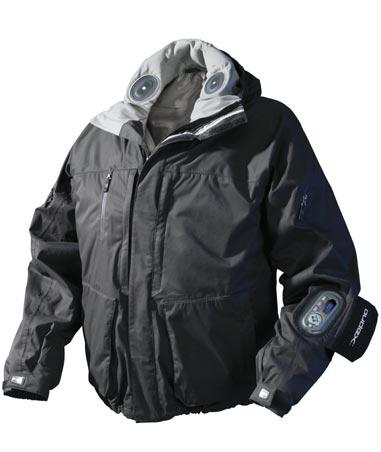 Audex jaket yaitu jaket yang terkoneksi dengan nirkabel