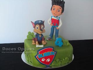 birthday cake paw patrol