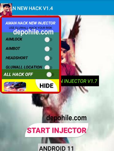 Free Fire Aman Tool Headshot, Aimbot Hilesi Menu Eylül 2021