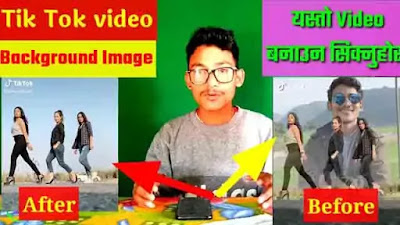 Make Background Image Video On TikTok