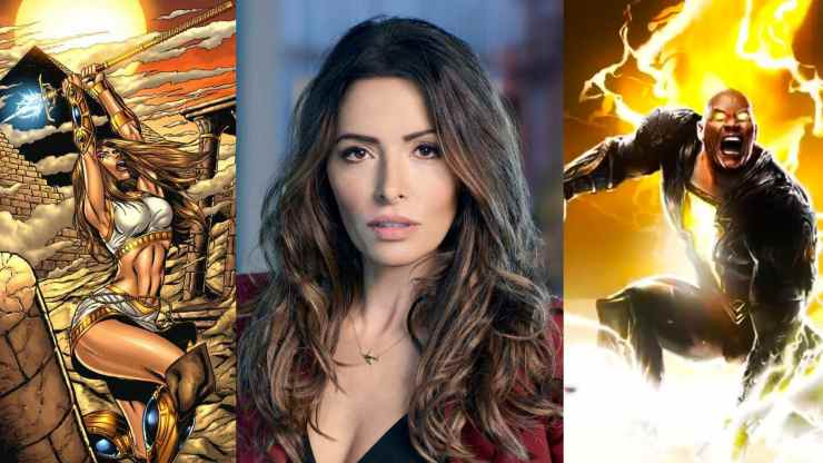 rumours are spreading that Reverie star Sarah Shahi will play role of Adrianna Tomaz aka Isis in DC's upcoming movie Black Adam.