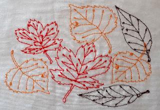 herfstbladeren borduurpatroon
