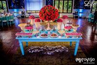festa de formatura em psicologia realizada no salão cristal do clube do comércio em porto alegre por life eventos especiais com projeto de decoração descontraído e colorido remetendo ao fundo do mar e ao filme a pequena sereia da disney