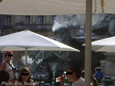 Lyon, Sculptures, Place des Terreaux, fontaine Bartholdi, Frédéric Bartholdi,
