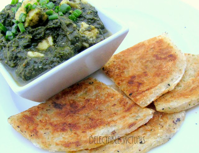 Kale and Spinach Saag Paneer