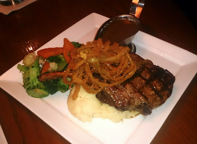 TGI Fridays, rib eye steak