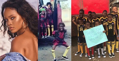Rihanna thanks Nigerian kids from Ikorodu for making her day with their dance