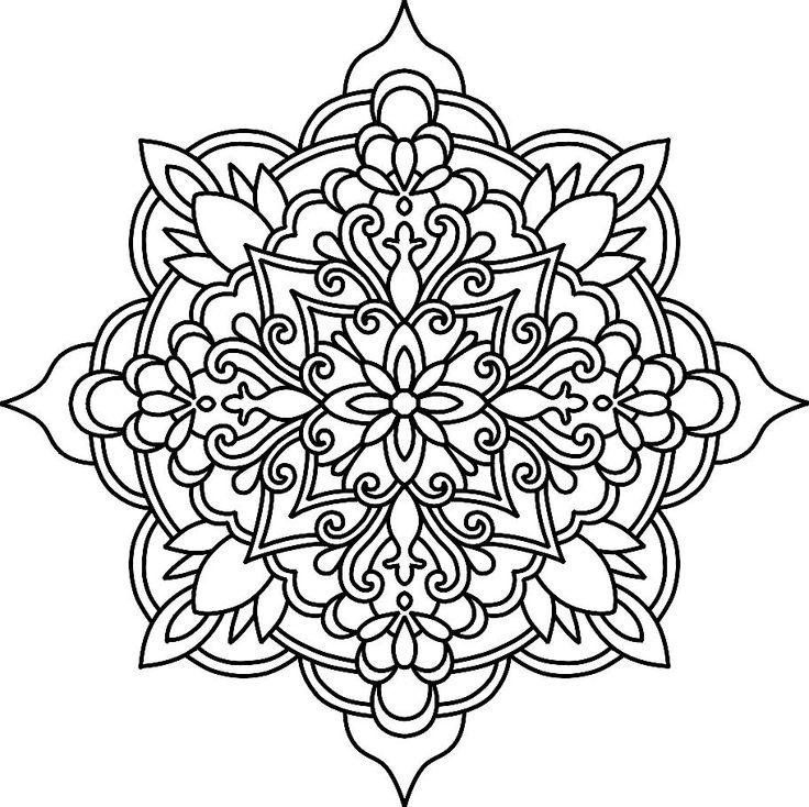 Line Drawing Mandala : Baú da web mandalas para colorir