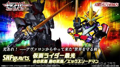 S.H. FiguArts Kamen Rider Saikou Kin no Buki Gin no Buki/X Sword Man Official Images