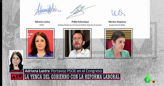 """Adriana Lastra se retracta: """"No se puede hacer una derogación íntegra de la reforma laboral"""""""