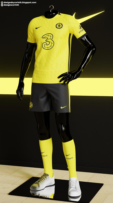 Chelsea FC - 2021/22 Away Kit Prediction