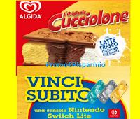 Logo Algida '' Vinci con Cucciolone '' : in palio 200 Nintendo Switch Lite