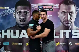Anthony Joshua vs Wladimir Klitschko showdown; over 80000 tickets sold so far