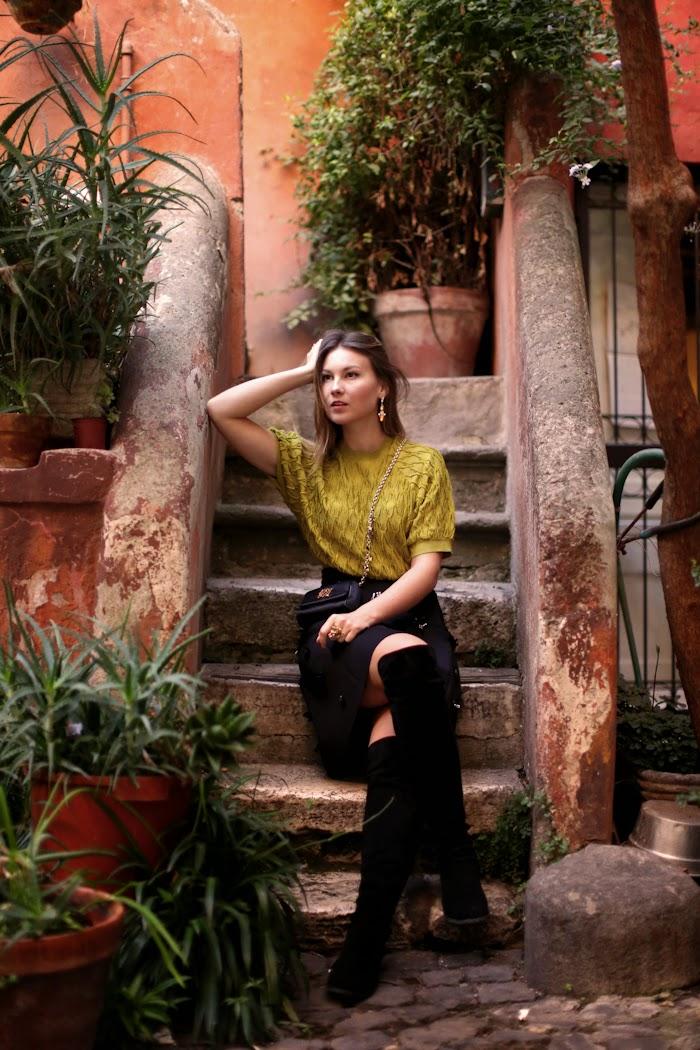 hm embellished skirt rome