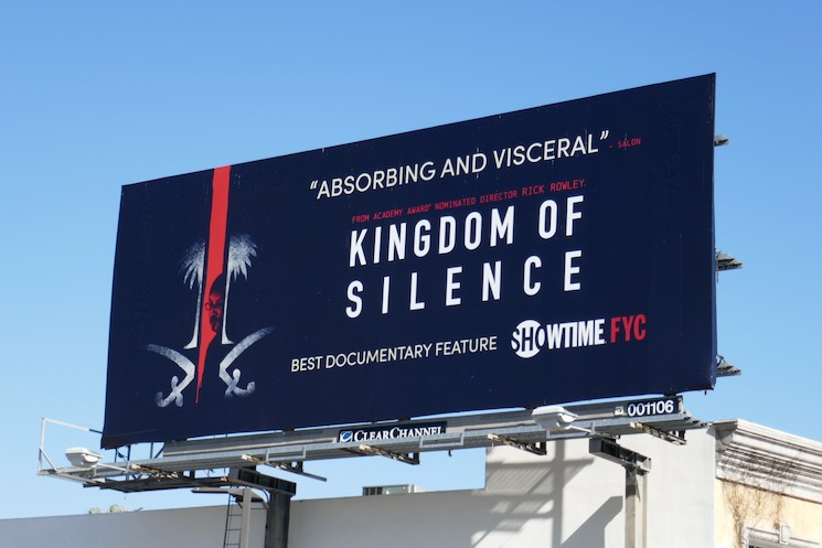 Kingdom of Silence FYC billboard