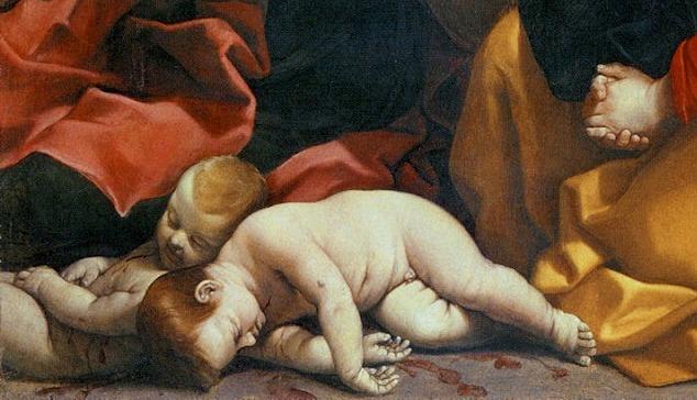 Guido Reni, La matanza de los Inocentes, 1611 (detalle)