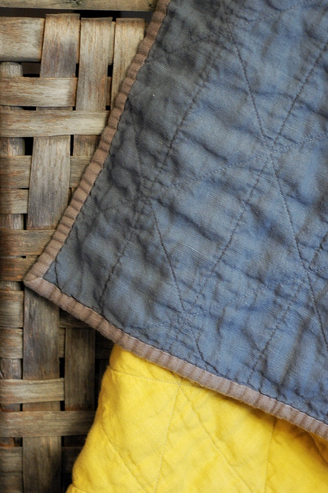 Color Block Linen Quilt
