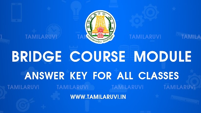 10th STD All Subject Refresher Course Module Answer Key Tamil Medium and English Medium Download PDF 2021 - 2022