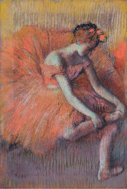 Эдгар Дега - Танцовщица,поправляющая пуант (1896)