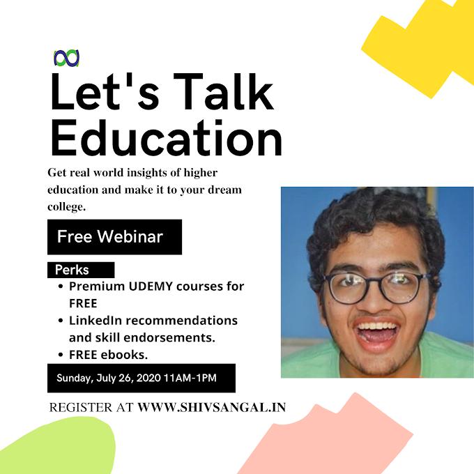 Webinar Update: Let's Talk Education