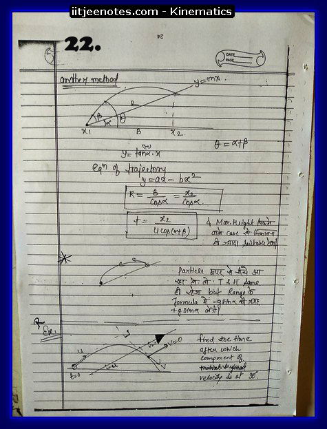 kinematics notes cbse6