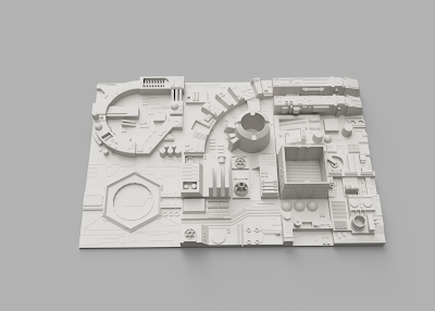 Death Star Starwars Diorama 3d print - Modules Layout