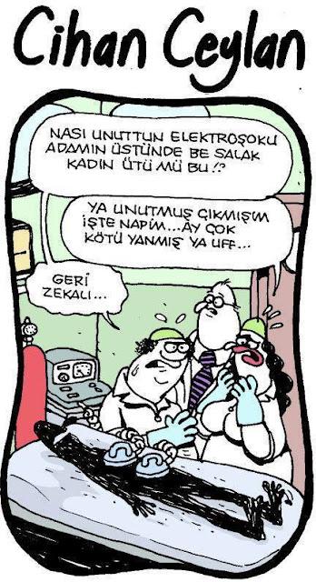 elektroşok karikatür