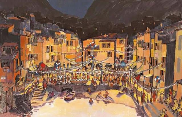Luca La Festa del Mare (the Feast of the Sea) concept artwork by Daniela Strijleva