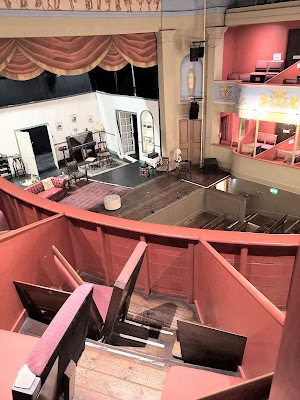 View from one of the upper boxes  of the Theatre Royal, Bury St Edmunds