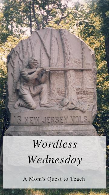 Photograph of 13th NJ volunteers monument in Gettysburg