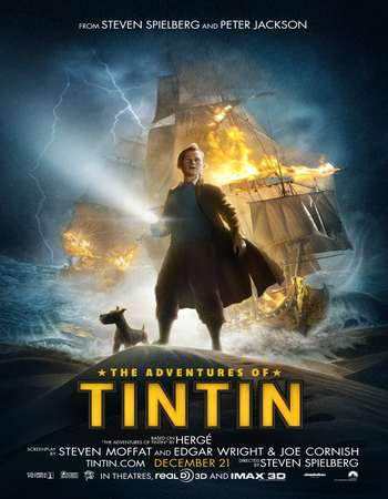 Poster Of The Adventures of Tintin 2011 Hindi Dual Audio 300MB    Free Download Watch Online world4ufree.org