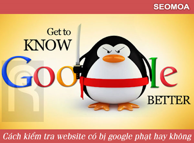 kiểm tra website google phạt