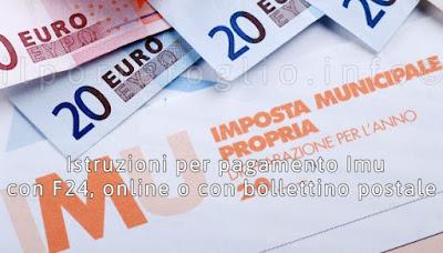 istruzioni pagamento imu f24