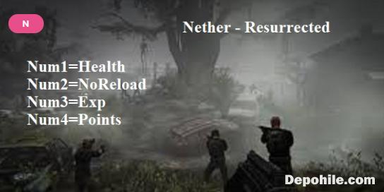Nether Resurrected PC Oyunu Can, Exp +4 Trainer Hilesi İndir