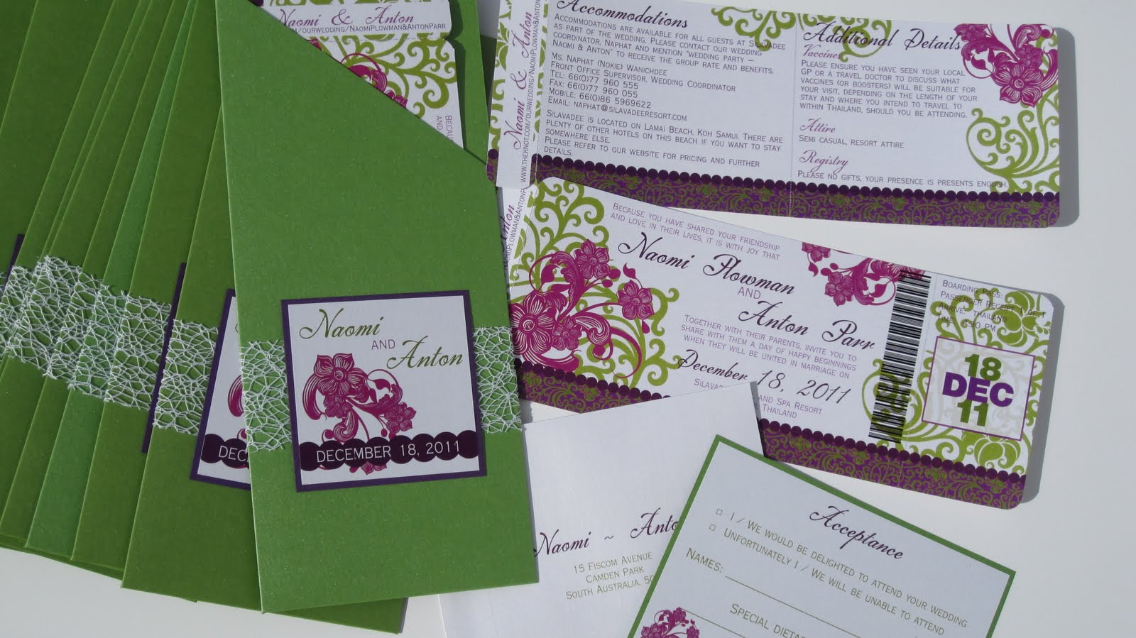 Khmer Wedding Invitations: Memories Of Today: Vintage Thai Boarding Pass