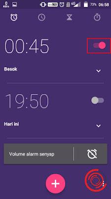 4. Terakhir, silakan kalian nonaktifkan semua alarm yang sedang aktif dengan cara menggeser ke kiri