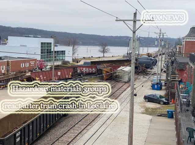 Hazardous,materials,groups,train,LeClaire