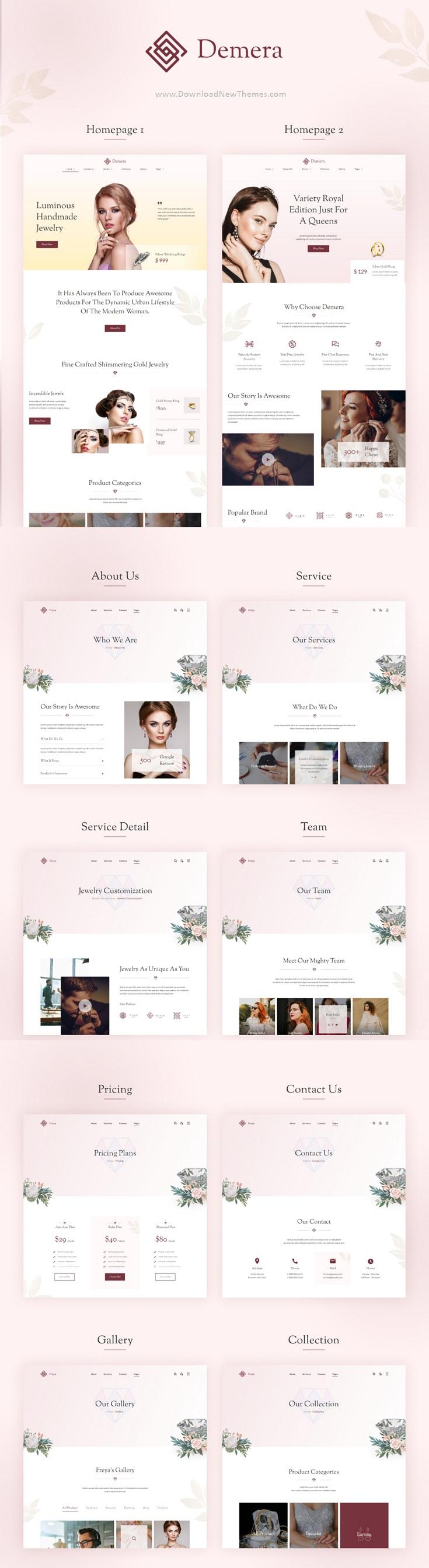 Jewelry Shop Elementor Template Kit