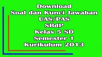 download soal dan kunci jawaban uas sbdp kelas 5 sd semester 1 kurikulum 2013