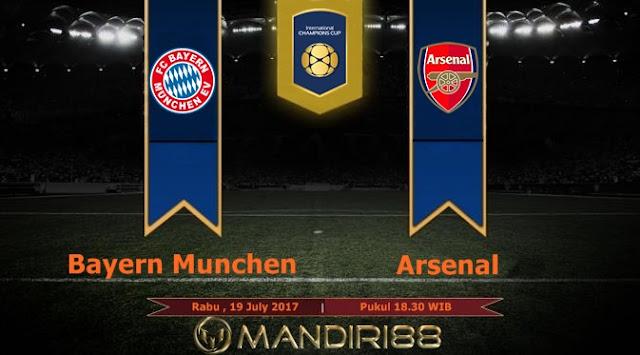 Prediksi Bola : Bayern Munchen Vs Arsenal , Rabu 19 July 2017 Pukul 18.30 WIB