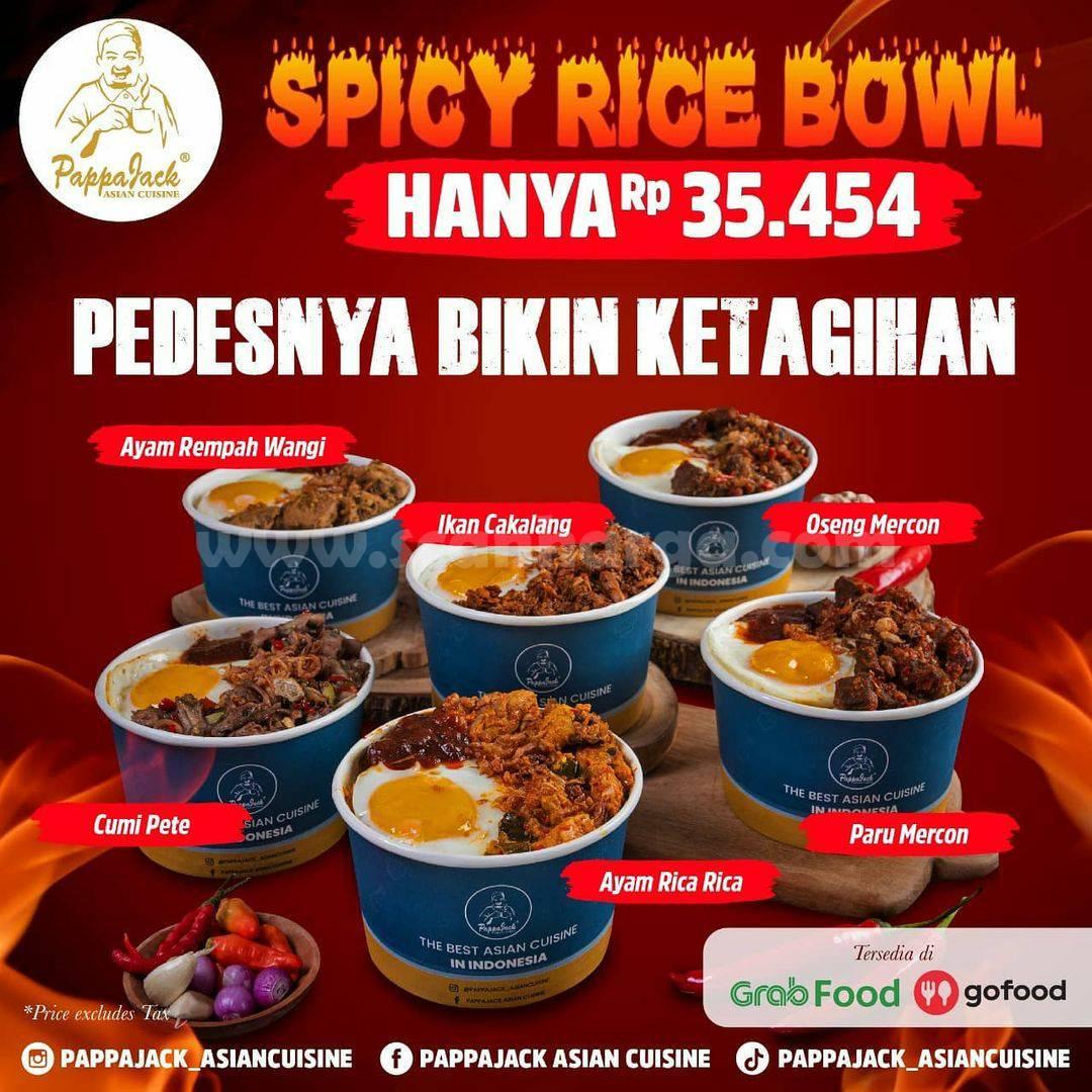PAPPAJACK Promo Spicy Rice Bowl harga paket Hanya Rp 35.454