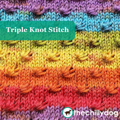 Knitting Stitch Pattern: A triple knot is as simple as working a p3tog, k3tog and p3tog all into the same 3 stitches.